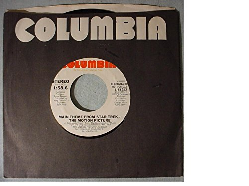 (Rare Near Mint White Label Radio Station Promo Issue 7 Inch 45 rpm & Columbia Stock Sleeve - Jerry Goldsmith - Main Theme From Star Trek The Motion Picture - Columbia Records 1979)