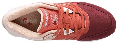 Reebok Ventilator, Baskets Basses Femme Rouge (triathlon Red/rosette/luna Pink/chalk/white)