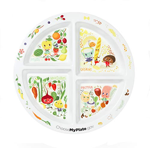 Portion Plate for Kids - With 4 Divided Sections - MyPlate (4)
