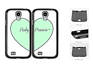 Mint Heart Pinky Promise Best Friends Set Hard Plastic Snap On Cell Phone Case Samsung Galaxy S4 SIV I9500