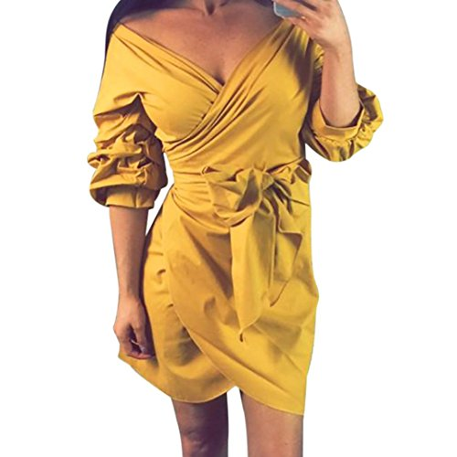 5e667bfa923 Sash Wrap Dress,Hemlock Women Lady Office Dress Evening Party Dress ...