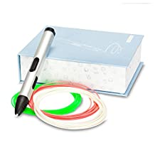 Professional Printing 3D Pen V4 set Bundled with 29 ft PLA Plastic Filament! Premium Aluminum 3D Drawing Doodler Pen with OLED Display for Kids/Hobbyists/Artists by KANARS(Silvery)