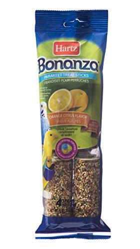 Hartz Bonanza Orange Citrus Flavored Parakeet Treat Sticks - 4 Pack (Parakeet Orange Sticks)