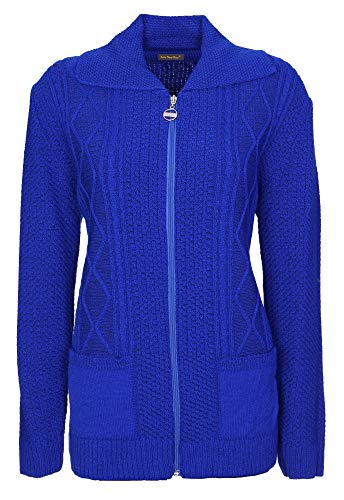 Blue Cardigan Royal Donna Lets Shop Shop qXwfEOn1