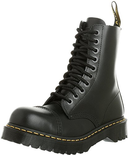 Martens Unisex Safety Boots - Dr. Martens Unisex 8761 10-Eye BXB Boot Black Fine Haircell Size UK 8 (9 M US Men)
