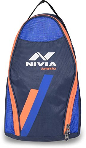 03f73ceeaa6 Buy Nivia 5191 Dominator Polyester Shoes Bag (Blue) Online at Low Prices in  India - Amazon.in