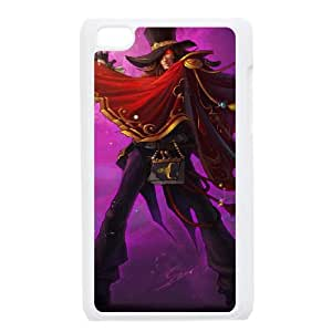 iPod Touch 4 Case White League of Legends The Magnificent Twisted Fate LOL-STYLE-0143