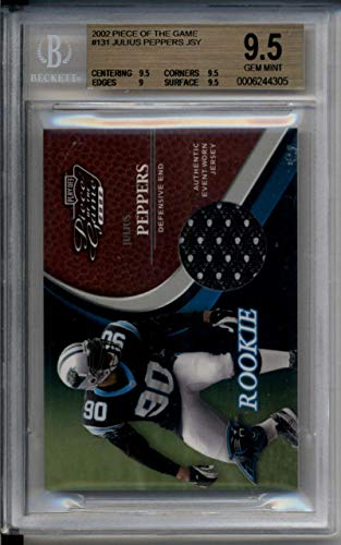 (Julius Peppers Rookie Jersey Patch /500 Piece of Game 2002 BGS 9.5 Gem Mint)