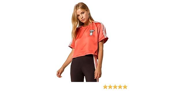 1cacfc3b Adidas Adibreak Satin Crop Top at Amazon Women's Clothing store: