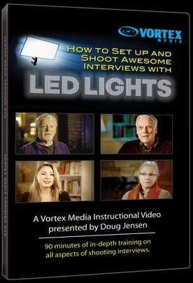 Vortex Media Dvd - Vortex Media DVD-Video: How to Set Up and Shoot Awesome Interviews with LED Lights by Doug Jensen
