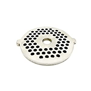 """Berucci Stainless Steel Meat Grinder Plate Disc Blade for FGA KitchenAid Mixer Attachment 1/8"""" holes for Fine Grind"""