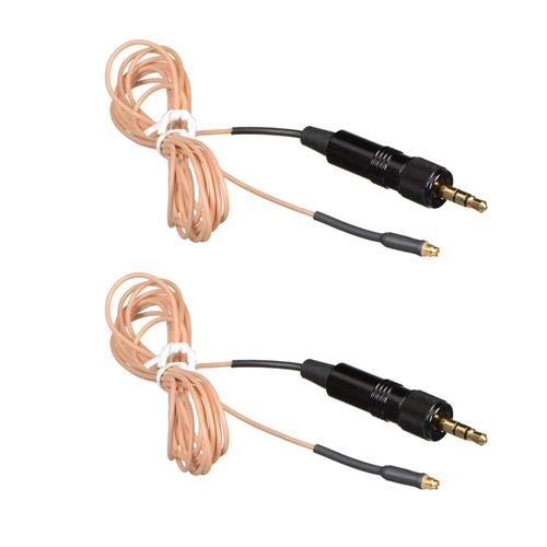 Hosa Technology 2 Pack kMogan Cable for Sennheiser Wireless Bodypack Transmitters, Beige by Hosa
