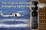 New Spare Air - Heed 3 Helicopter Emergency Egress Device for Pilots with Dial Gauge Upgrade and Fill Adapter that Allows the User to Fill Directly from a Standard Fill Whip at Their Local Dive Shop