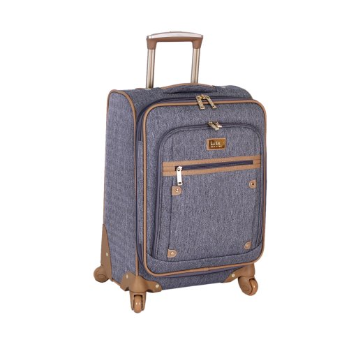Nicole Miller Taylor Collection 20-Inch Carry On Spinner, Grey, One Size