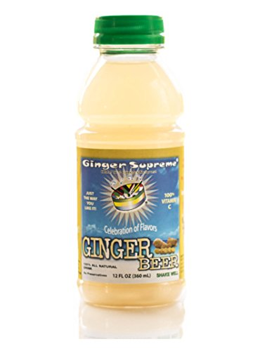 Caribbean Ginger Beer Non-Carbonated Non-Alcoholic All Natural Healthy Drink 12-Ounce - (Pack of 6) Alcoholic Ginger Beer