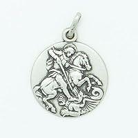 Medal Sterling Zilver Saint George 18 mm doorsnee