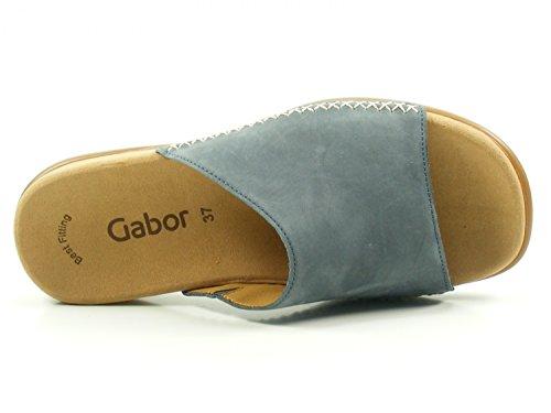 Gabor 83-705 Scarpe Da Donna Muli Nubuck Blu