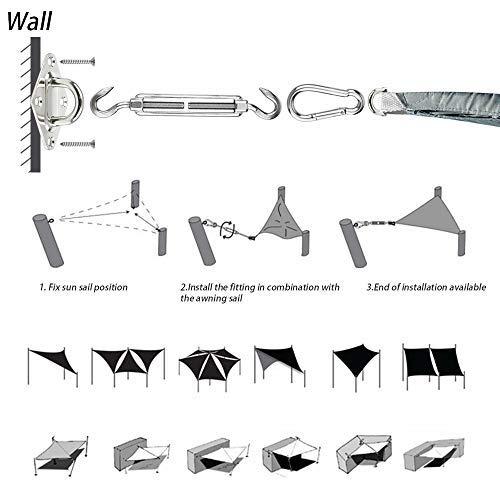 Vela de Sombra 3x2m Rectangular Toldo Vela Impermeable Protección ...