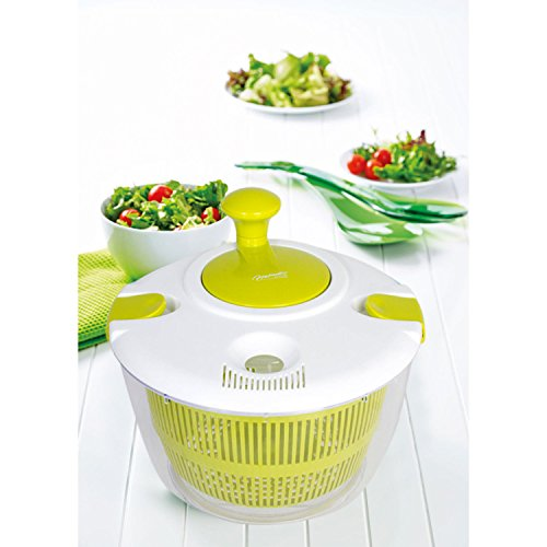 Salad Spinner – Dry Vegetables & Lettuce – Big Salad Spinner Large Vegetable Dryer – Lettuce Dryer To Dry Salad – Vegetable Spin Dryer by Lexi Home