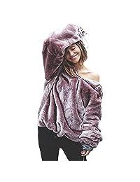 Womens Coat, Fluffy Sweater Winter Outwear Long Sleeve Hoodie Sweatshirt