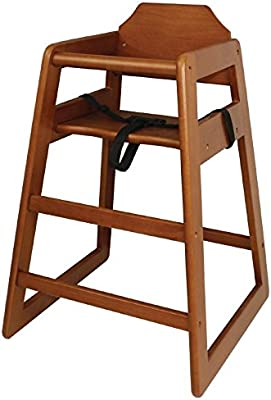 Bolero Wooden Highchair Natural Finish For Dining And Cafe 750X510X510mm