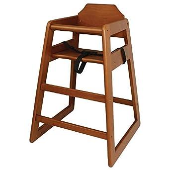 Wooden High Chair Dark wood.