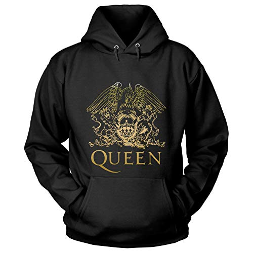 Queen - Band T Shirt, Freddie Mercury Shirt, Queen -British Rock Band - Hoodie (L, Black)
