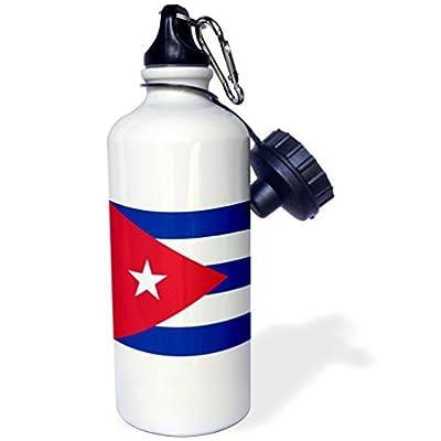 Drapeau du Cuba cubain Rayures bleues Triangle Rouge Blanc étoile Caribbean Island Country World drapeaux Sports Bouteille d'eau en acier inoxydable Bouteille d'eau pour femme homme enfants 400ml
