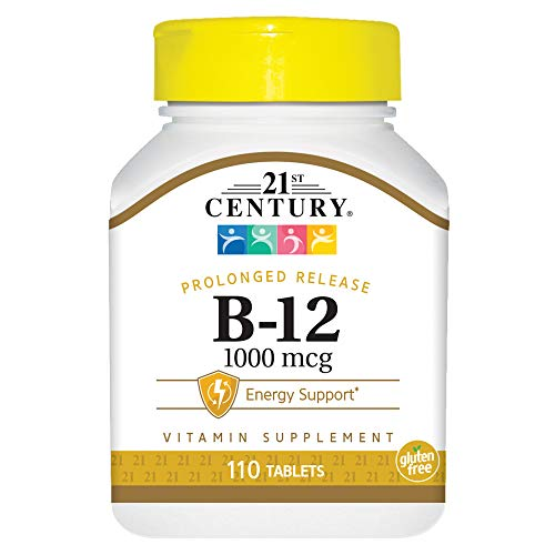 - 21st Century B 12 1000 mcg Prolonged Release Tablets, 110 Count