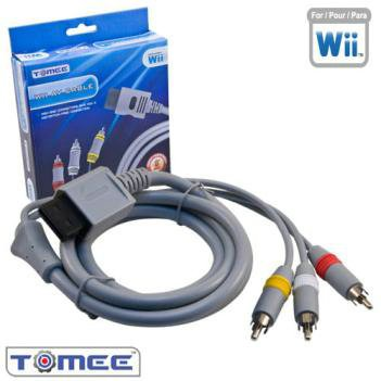 New Nintendo Wii AV Cable Connects Using Composite Connectors Six Foot Cable Length Same Picture