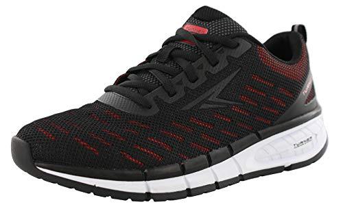Turner T-Brooklyn Men's Running Shoe (8.5 Wide 4E US) Black/Fiery Red
