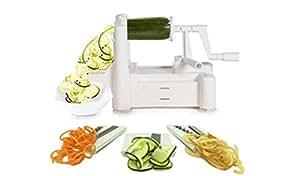 LFHT Tri-Blade Vegetable Slicer Strongest-and-Heaviest Duty Best Veggie Pasta & Spaghetti Maker