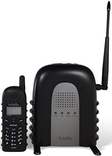 EnGenius DuraFon 1X Industrial Enables Long-Range Cordless Phone System With 2-Way Radio, Six times as powerful as the average cordless phone (708mW peak RF output), Handsets are shock-absorbent and ()