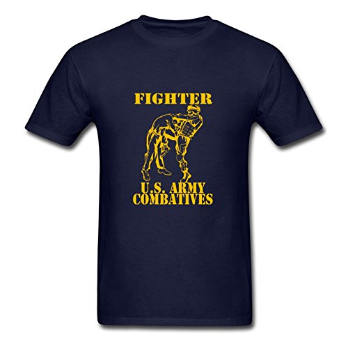 Bob Marley Fighter (Customizable Short-sleeve Combatives Fighter Gold Created T-shirt In Navy Men Cotton Medium)
