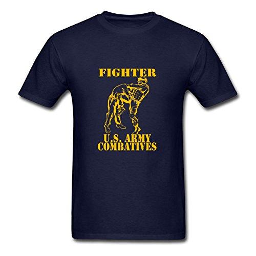 Bob Marley Fighter (Customizable Short-sleeve Combatives Fighter Gold Created T-shirt In Navy Men Cotton Medium)