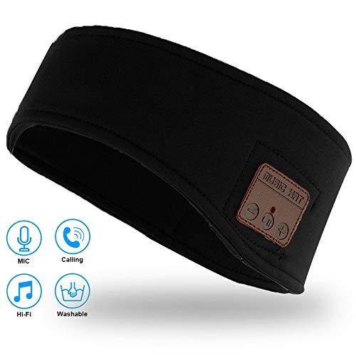 Sleep Headphones Wireless Music Headband Upgrade Soft Sleeping Headbands Sports Headband Headphones Sweatproof Headband…