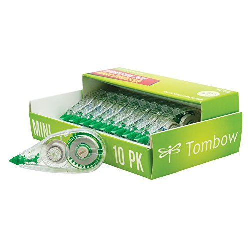 Tombow 68722 MONO Mini Correction Tape, 10-Pack. Easy to Use Applicator for Instant - Mono Wide Correction Tape