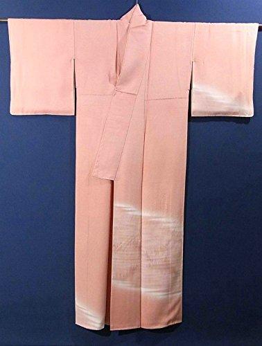 リサイクル 着物 訪問着 霞に木々の意匠 上品 一つ紋 正絹 袷 裄61.5cm 身丈153cm
