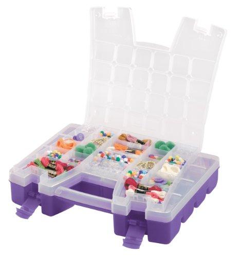 Akro-Mils 06215 Plastic Portable Hardware and Craft Parts Organizer, Regular, Purple