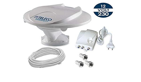 Teleco Antena TV de tejado Camper Wing 11 + Amplificador + ...