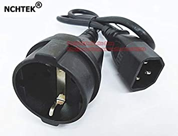 Europe CEE7//7 Schuko to IEC C14 Plug Adapter to Convert European Power Cords to IEC C13 Cord Standard.1ft//30cm Toptekit IEC 320 C14 Male to Europe Schuko Female Socket Short Adapter Cable For UPS PDU