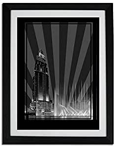 Address Hotel Down Town- Black And White No Text F06-m (a5) - Framed