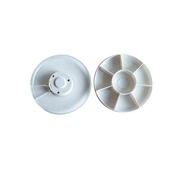 Pixnor - Pastillero electrónico y automático, con alarma recordatorio, dispensador de pastillas 8