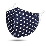 Womens Facemasks Washable, Face Covering Adjustable | Breathable | Reusable Cotton Cloth Soft Three Layer Face Protection for Women Men