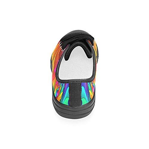 Artsadd Psichedelico Arcobaleno Scarpe Su Tela Personalizzate Per Le Donne Model018 (2015 Nuovo Arrivo)