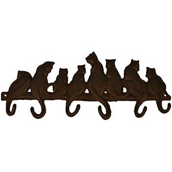 TB002 Bestplus 8 Cats Cast Iron Wall Hooks/ Hats Bag Key Coat Vintage Hooks, Home Decorative Gift