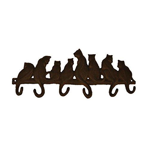 TB002 Bestplus 8 Cats Cast Iron Wall Hooks/ Hats Bag Key Coa