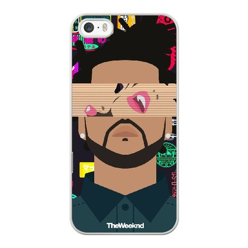 Coque,Coque iphone 5 5S SE Case Coque, The Weeknd Cover For Coque iphone 5 5S SE Cell Phone Case Cover blanc