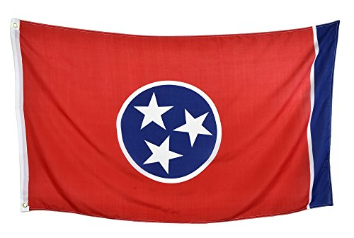 Flag Tennessee State (Shop72 US State Flags - Tennessee - 3x5' Flag From Sturdy 100D Polyester - Canvas Header Brass Grommets Double Stitched From Wind Side)