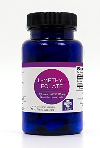 MD.LIFE L-Methylfolate 1 mg. 90 - Capsules- 5-MTHF Folate Supplement by MD.LIFE